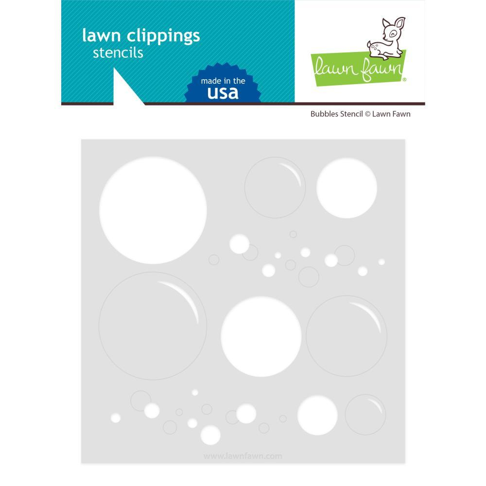 Bubbles Lawn Clippings Stencil