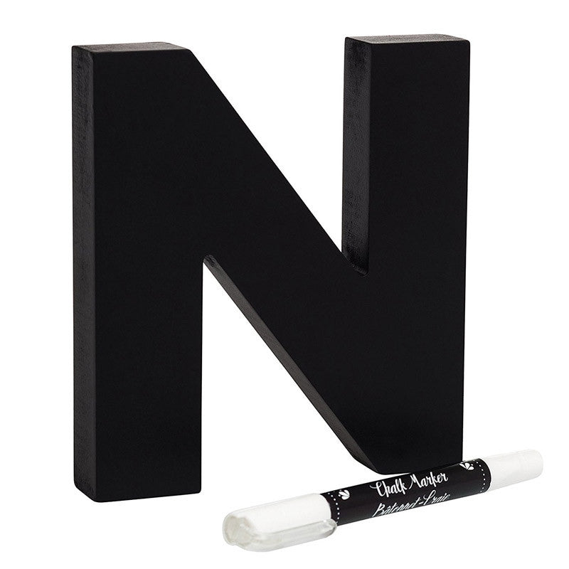 Chalkboard Letter and Marker (N)