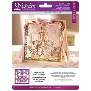 Die'sire Classic Chandelier Create-a-Card Cut In Metal Dies