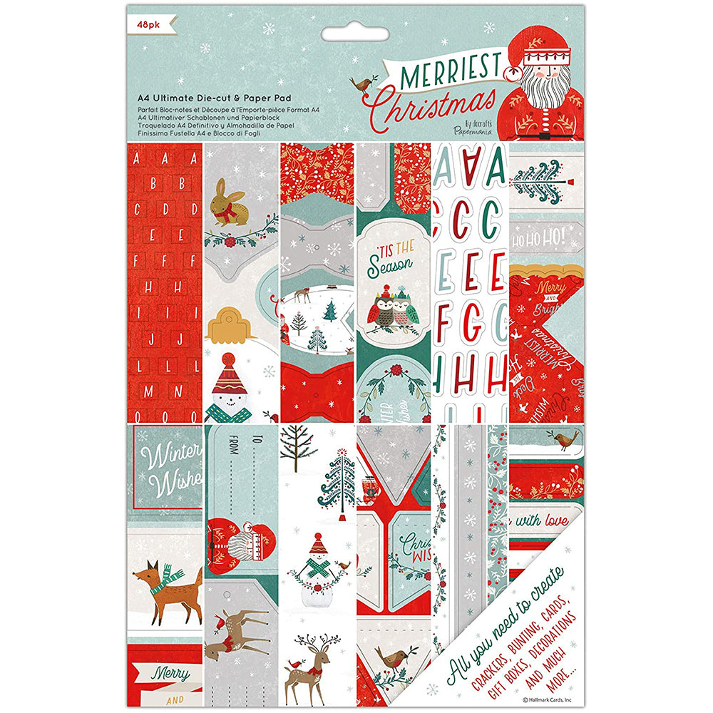 Merriest Christmas A4 Ultimate Die-cut & Paper Pad