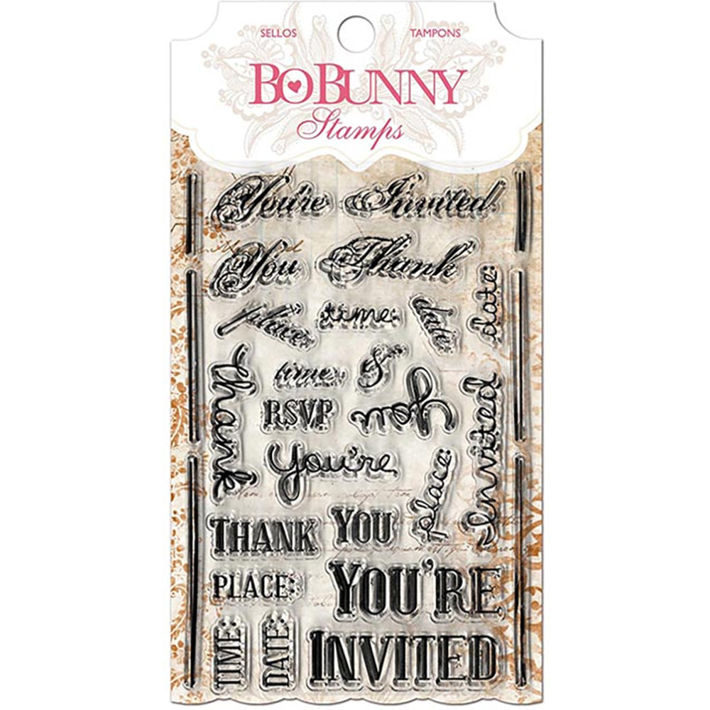 You're Invited 4x6 Clear Stamp Set