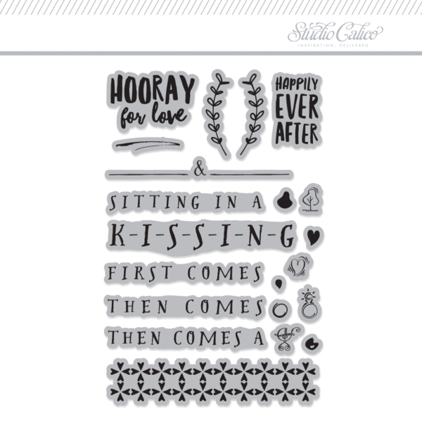4x6 Clear Stamps Set: Love & Marriage by One Little Bird
