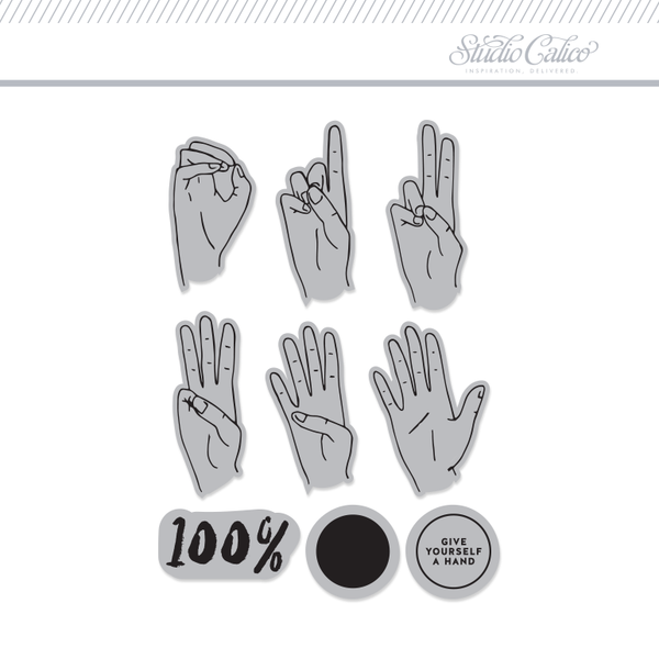 3x4 Clear Stamps Set: Number Hands by Hello Forever