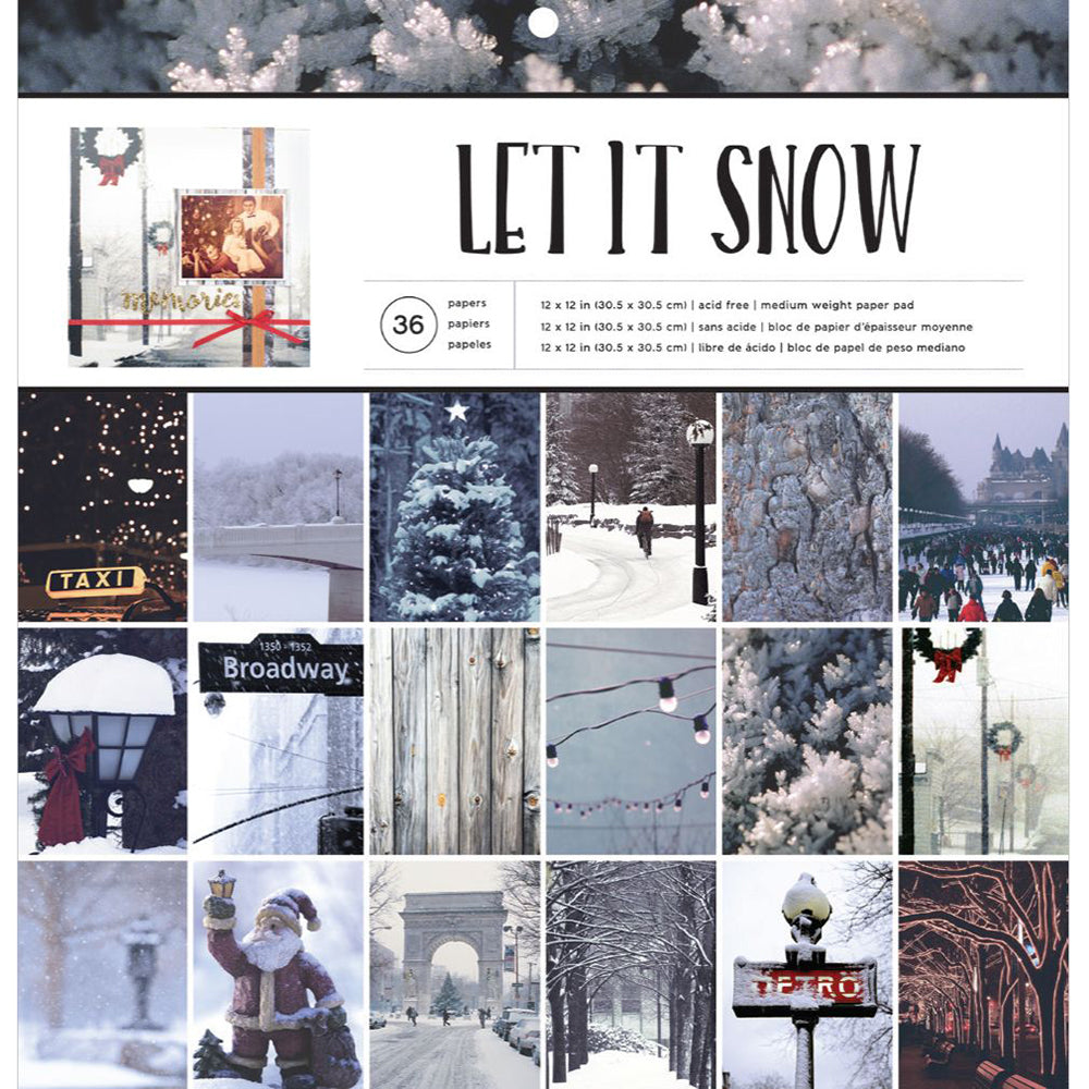 12x12 Paper Pad: Let It Snow