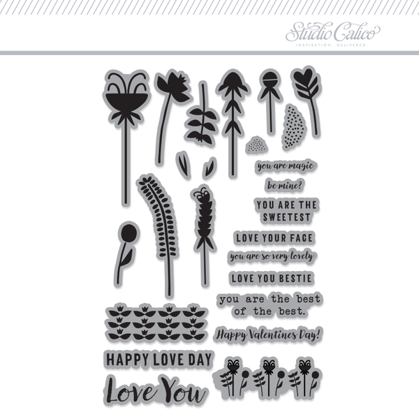 Life.Love.Paper Valentines 4x6 Clear Stamps