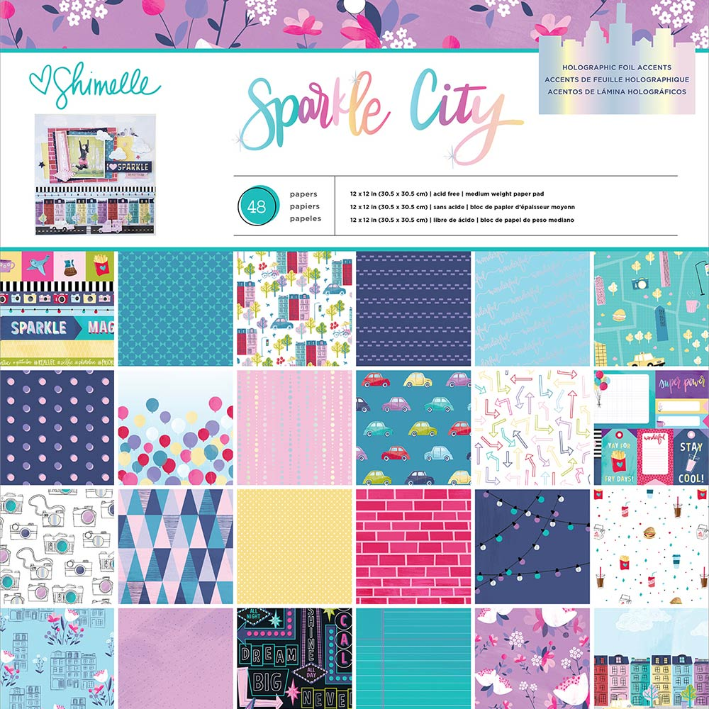 12x12 Paper Pad: Sparkle City by Shimelle