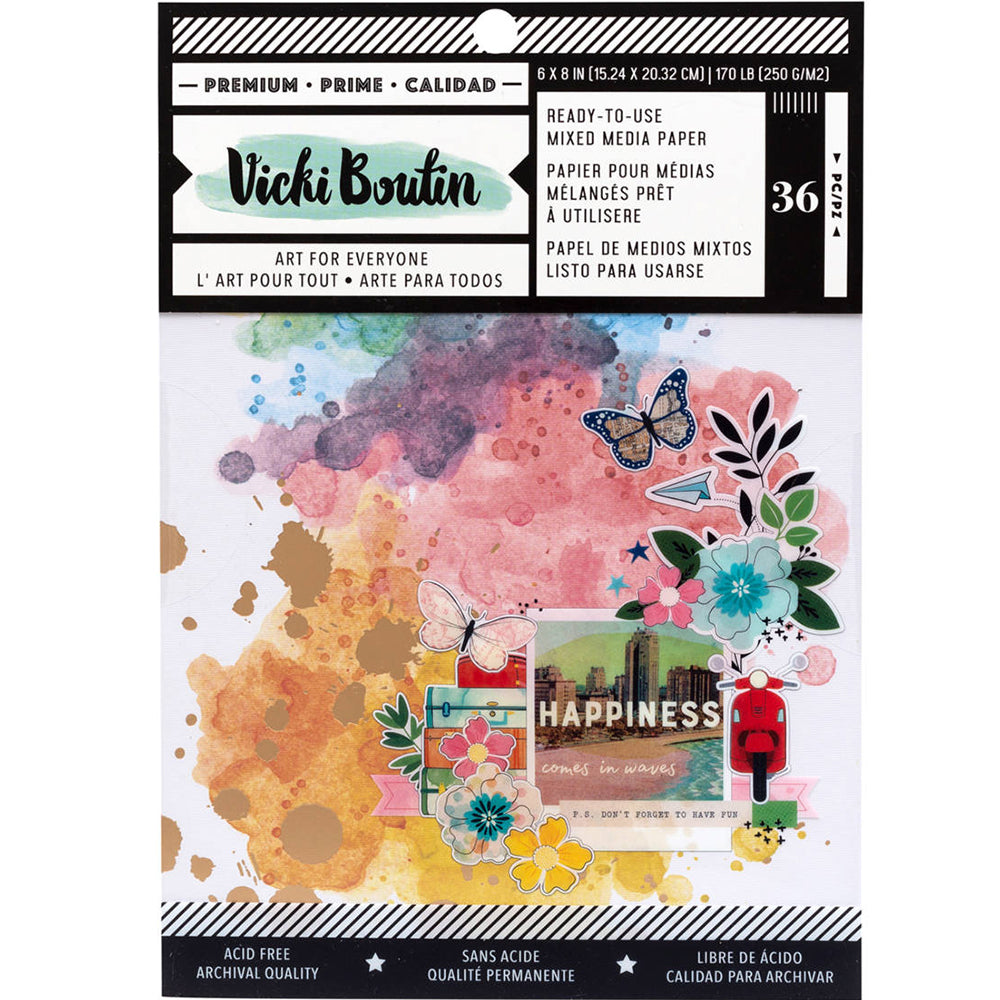 Vicki Boutin Let's Wander 6x8 Mixed Media Pad