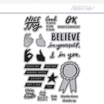 4x6 Clear Stamps Set: Good Job by Life.Love.Paper