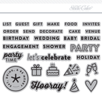 3x4 Clear Stamps Set: Party By In a Creative Bubble