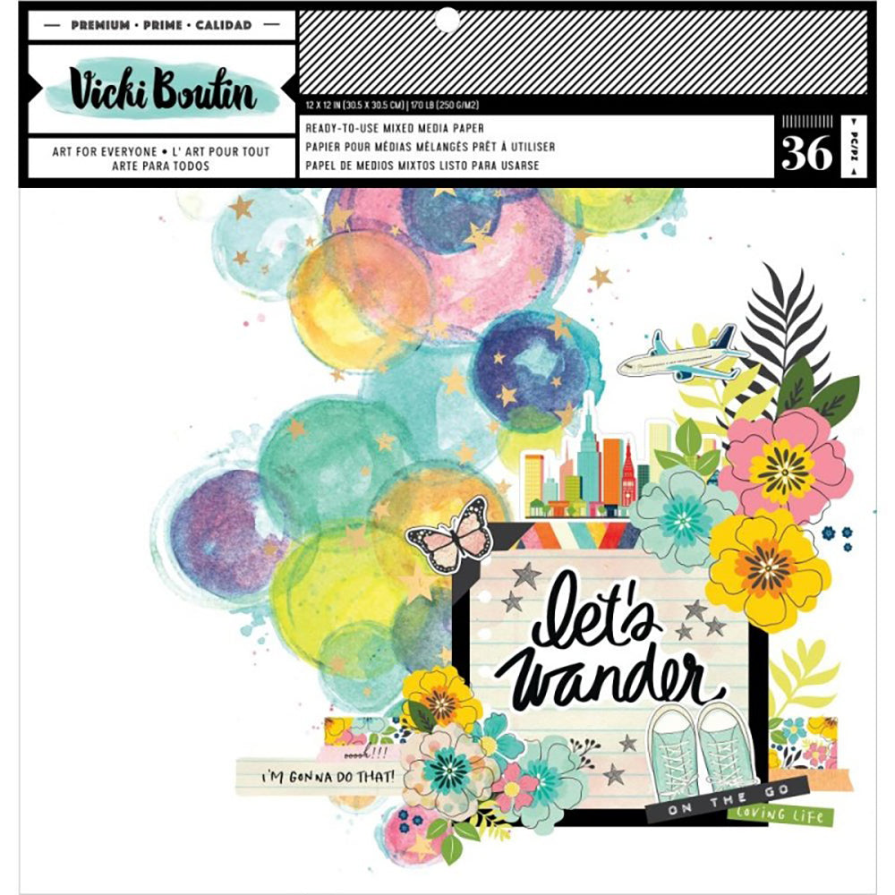Vicki Boutin Let's Wander 12x12 Mixed Media Pad
