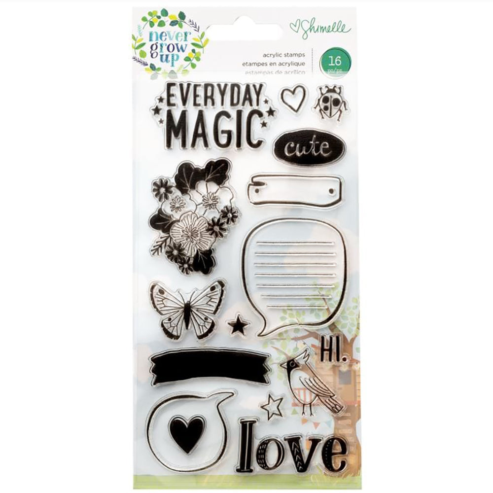 Shimelle Never Grow Up Clear Stamp Set
