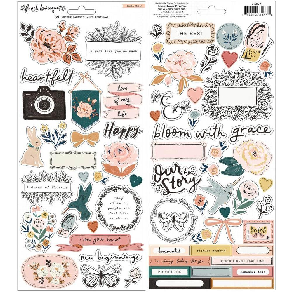 Cardstock Stickers: Fresh Bouquet