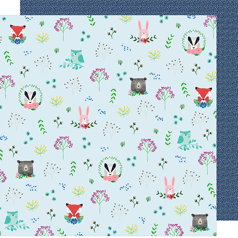 12x12 Designer Paper: Little by Little (Forest Friends)