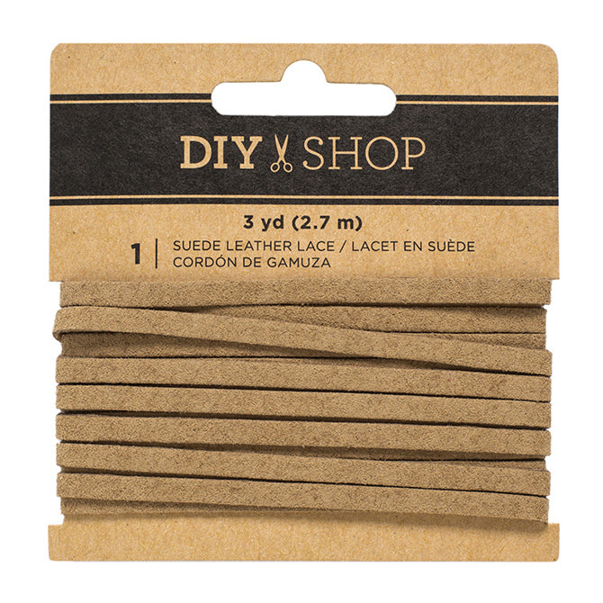 DIY Shop Suede Leather Lace (3YD)