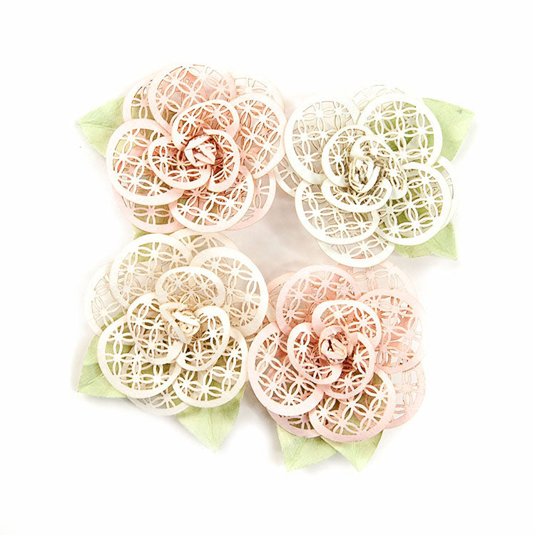 Poetic Rose Beautiful Melody Mulberry Paper Flowers