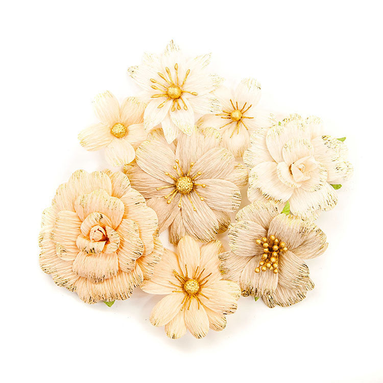 Flower Embellishments: Pretty Pale (Honeycomb)