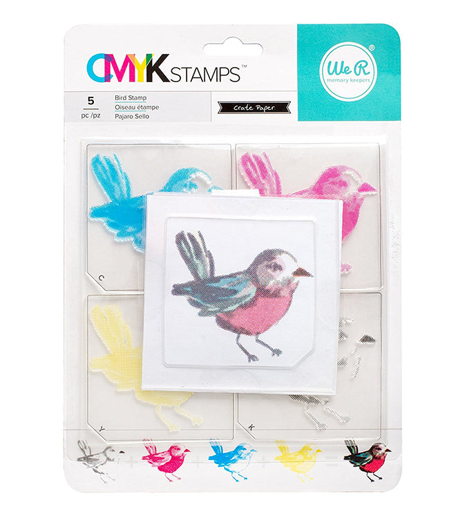 CMYK Stamps Set: Bird