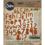 Tim Holtz Thinlits Dies: Alphanumeric Cutout Lower