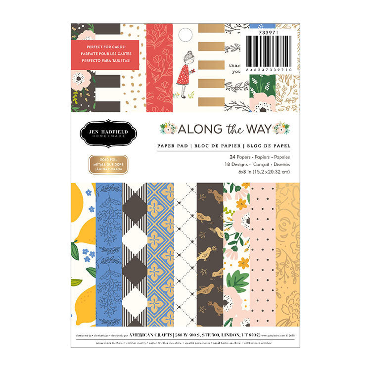 6x8 Designer Paper Pad: Along the Way