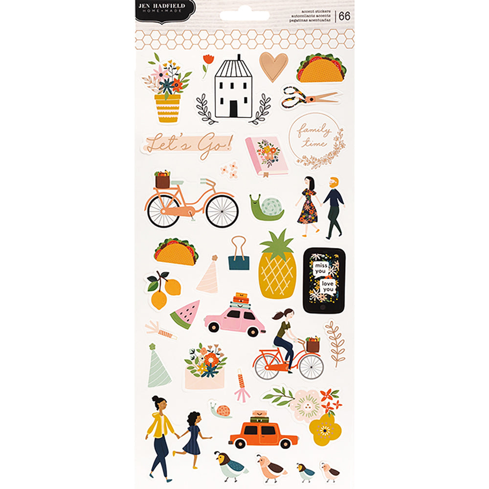 Jen Hadfield This is Family Cardstock Stickers