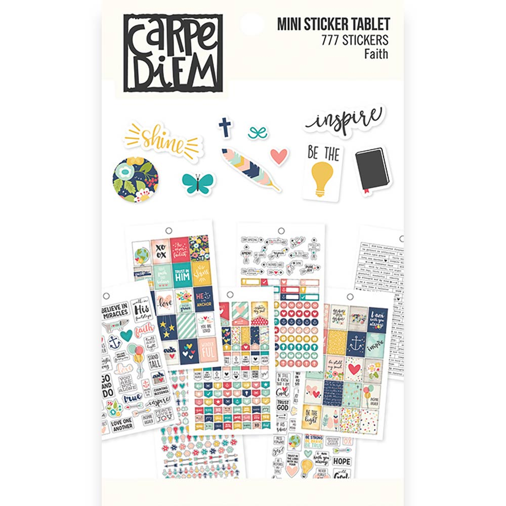 Carpe Diem Faith Mini Sticker Tablet