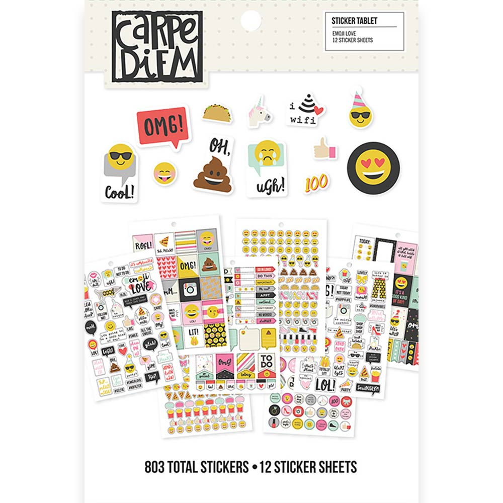 Carpe Diem Emoji Love Sticker Tablet
