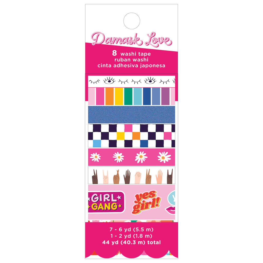Damask Love Girl Power Washi Tape Set