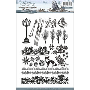 Amy Design Wintertide 6x8 Clear Stamps