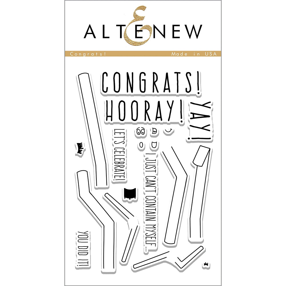 Clear Stamps Set: Congrats