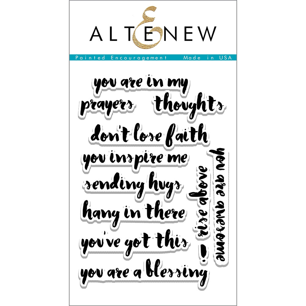 Clear Stamps Set: Painted Encouragement