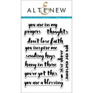 Painted Encouragement 4x6 Clear Stamp Set