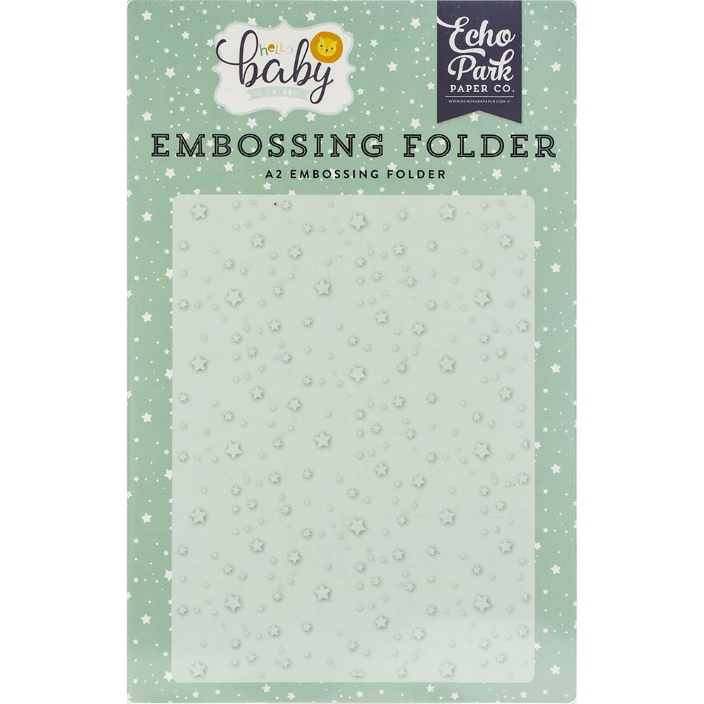 Hello Baby Shining Stars A2 Embossing Folder