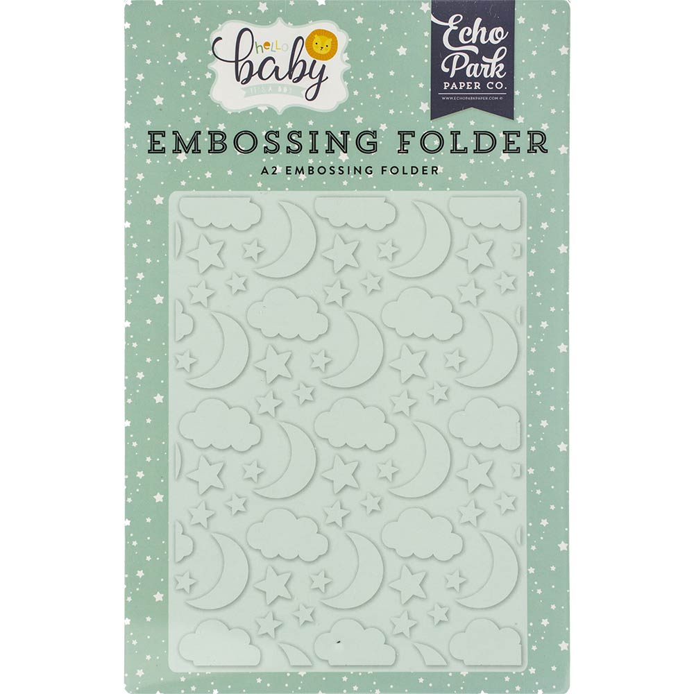 Hello Baby Good Night A2 Embossing Folder