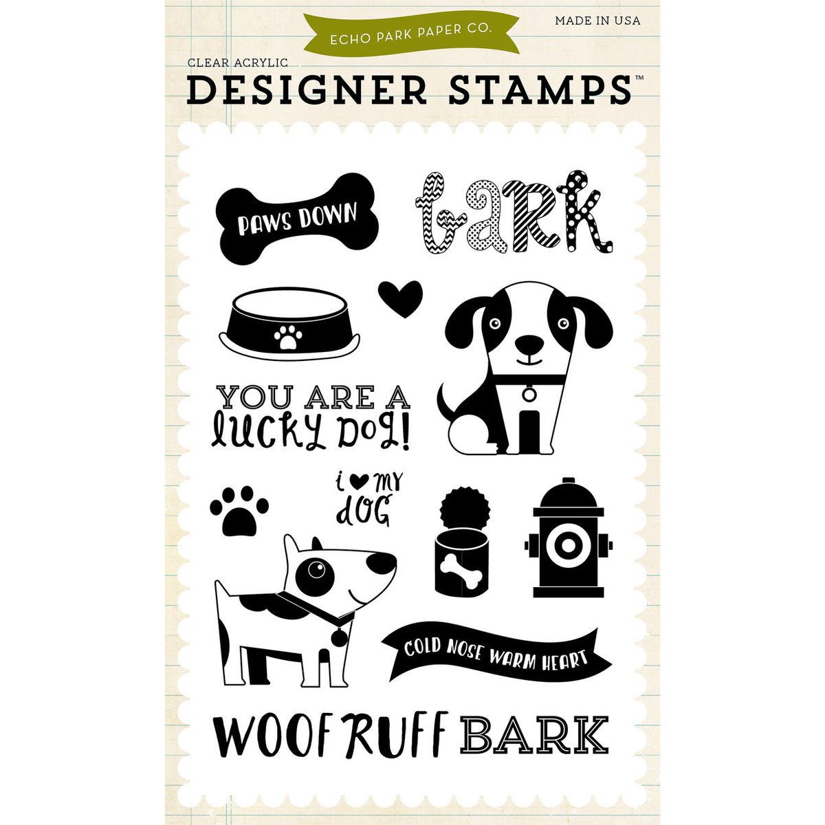 Lucky Dog 4x6 Clear Stamps