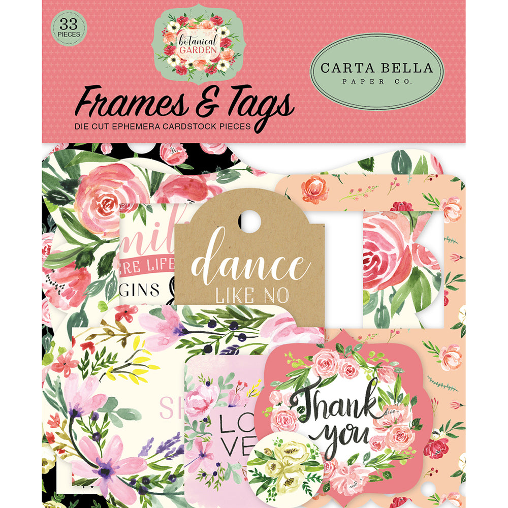 Ephemera Pack: Botanical Garden Frames & Tags