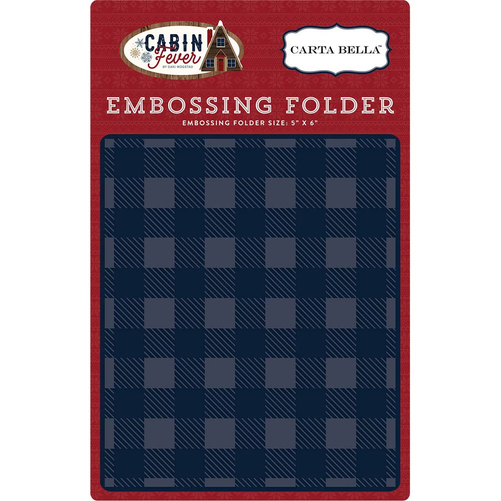 6x5 Embossing Folder: Cabin Fever (Small Buffalo Plaid)