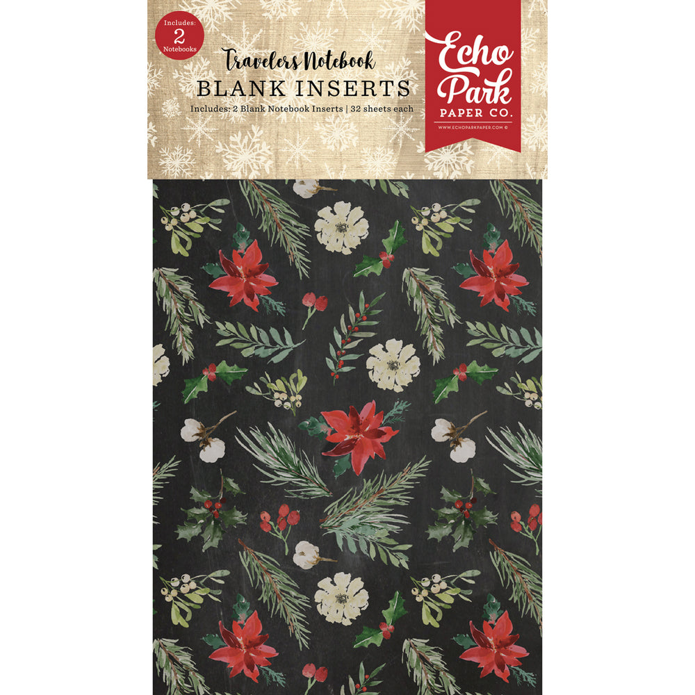 Travelers Notebook Christmas Blank Inserts (2PK)