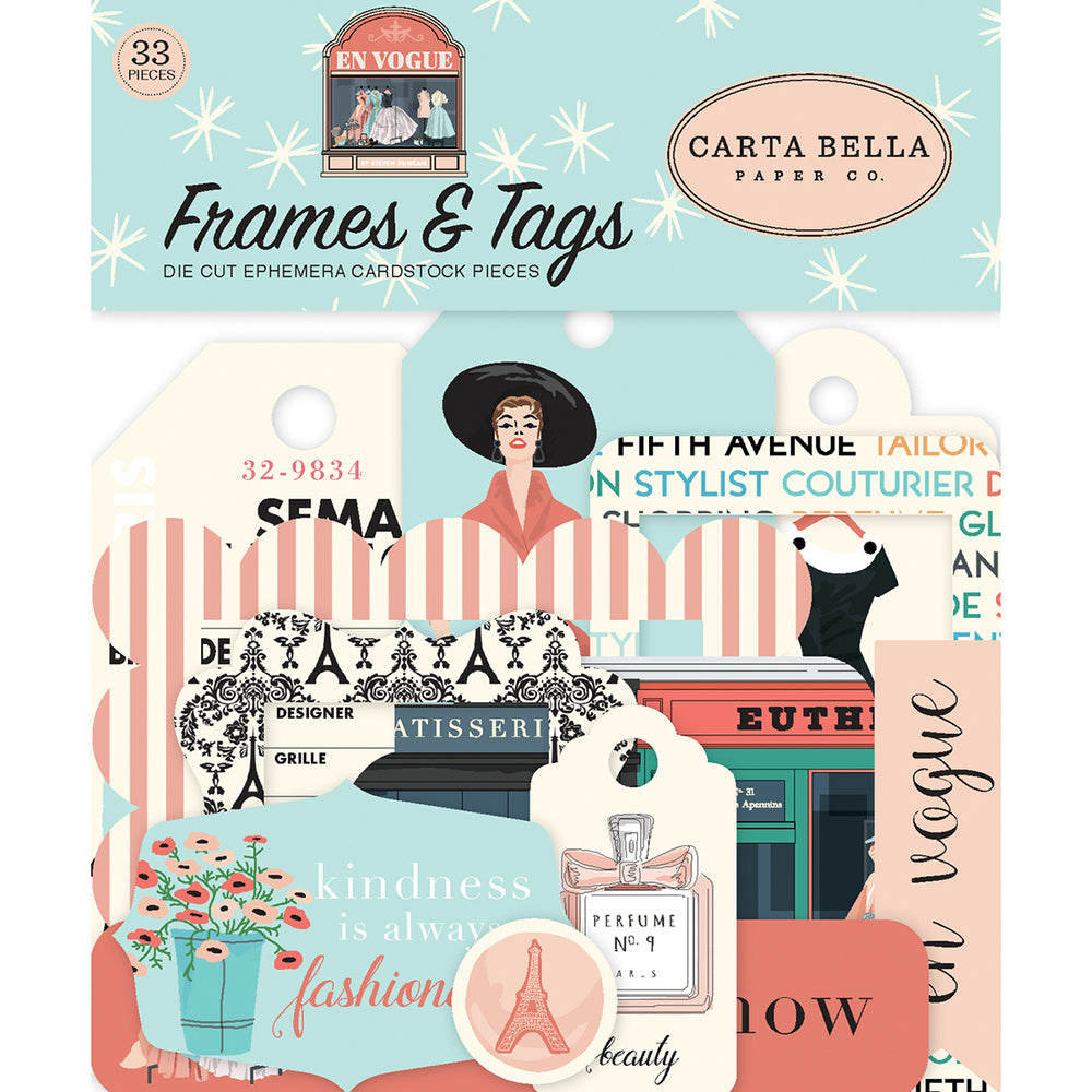 En Vogue Frames & Tags Ephemera