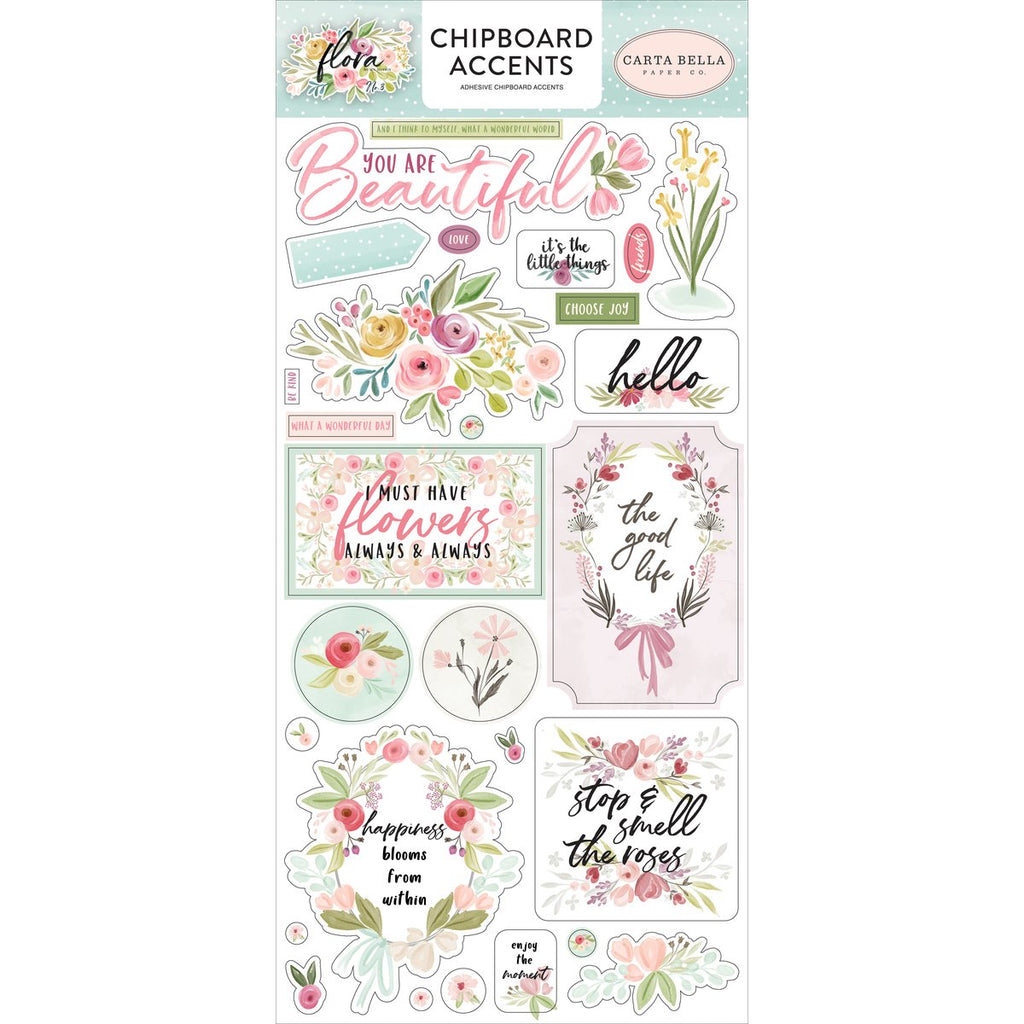 Chipboard Stickers: Flora No. 3 (Accents)