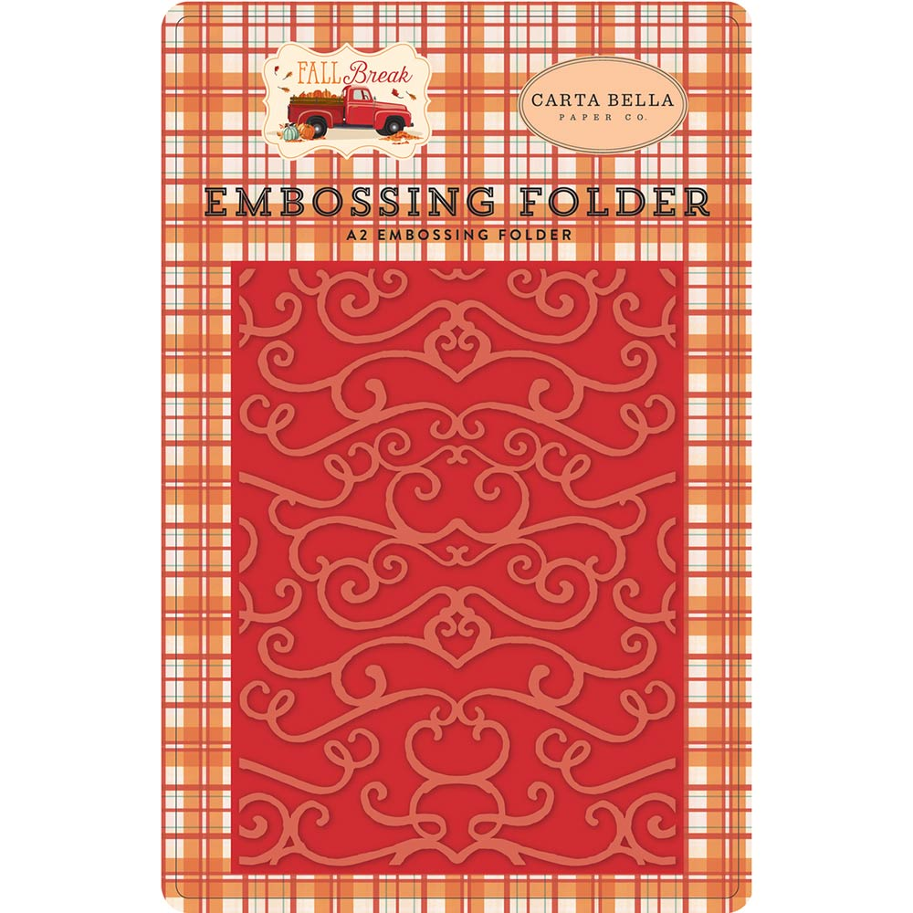 A2 Embossing Folder: Fall Break (Flourish)