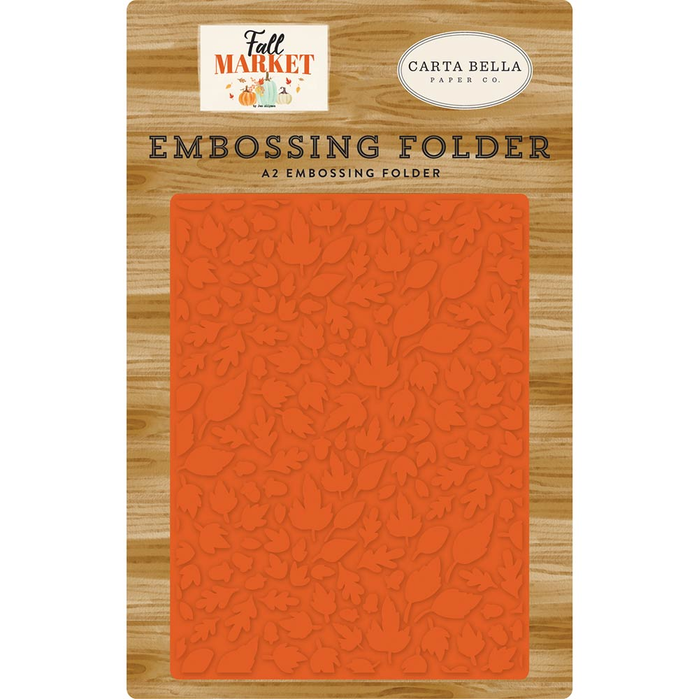 Fall Market Welcome Autumn A2 Embossing Folder