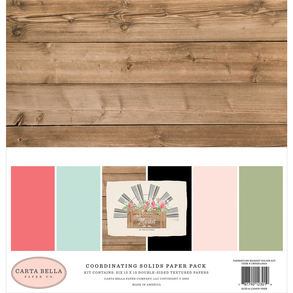 12x12 Cardstock Pack: Farmhouse Market