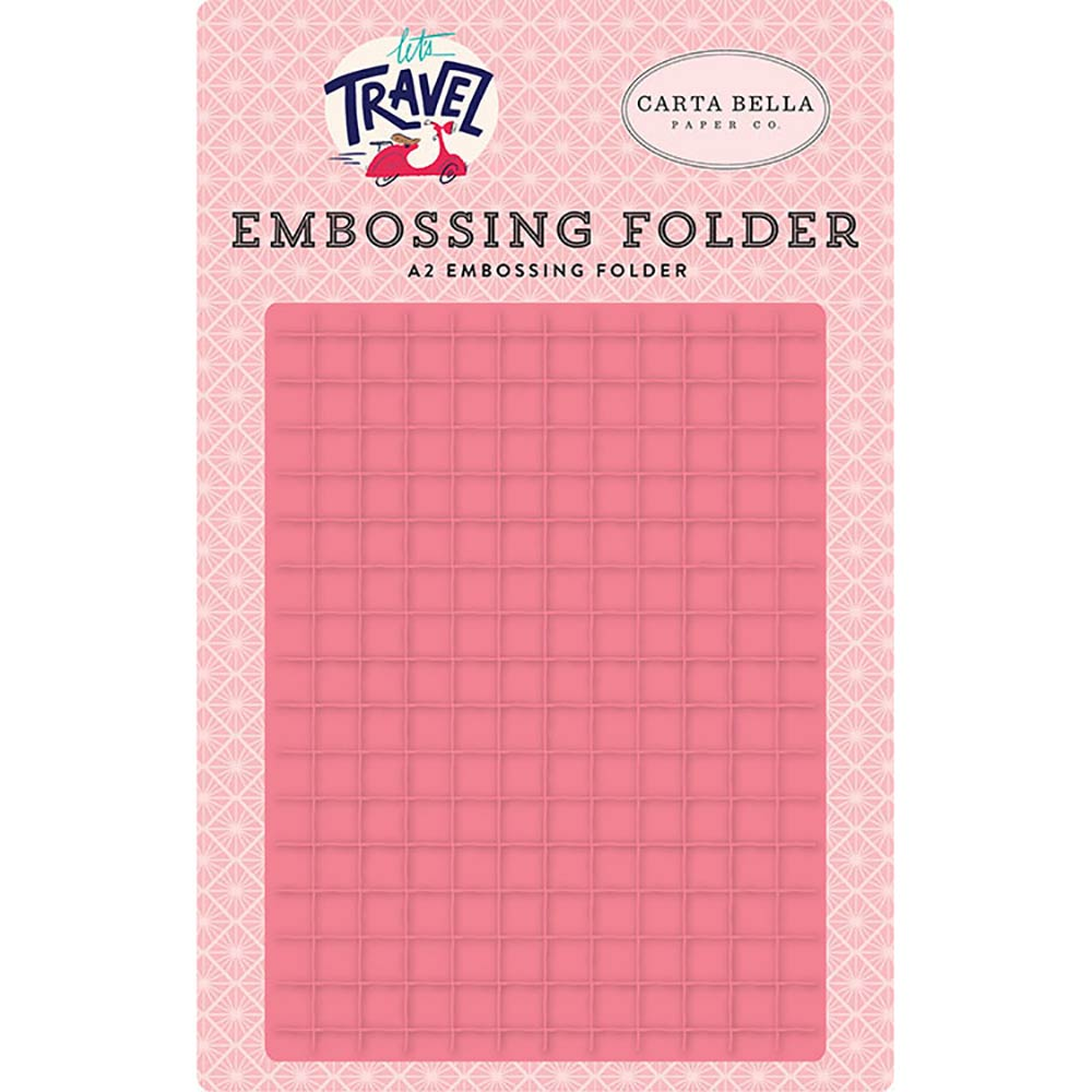 Let's Travel Grid A2 Embossing Folder