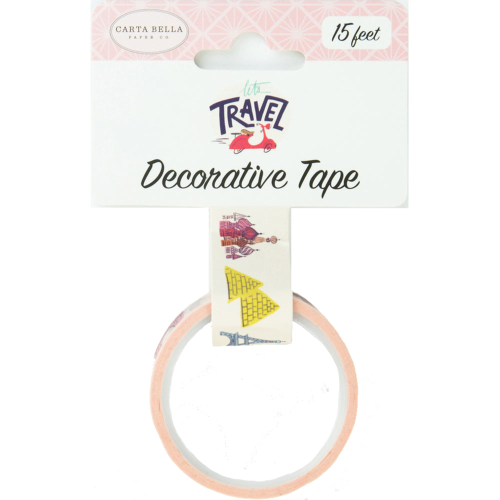 Decorative Tape: Let's Travel Destinations