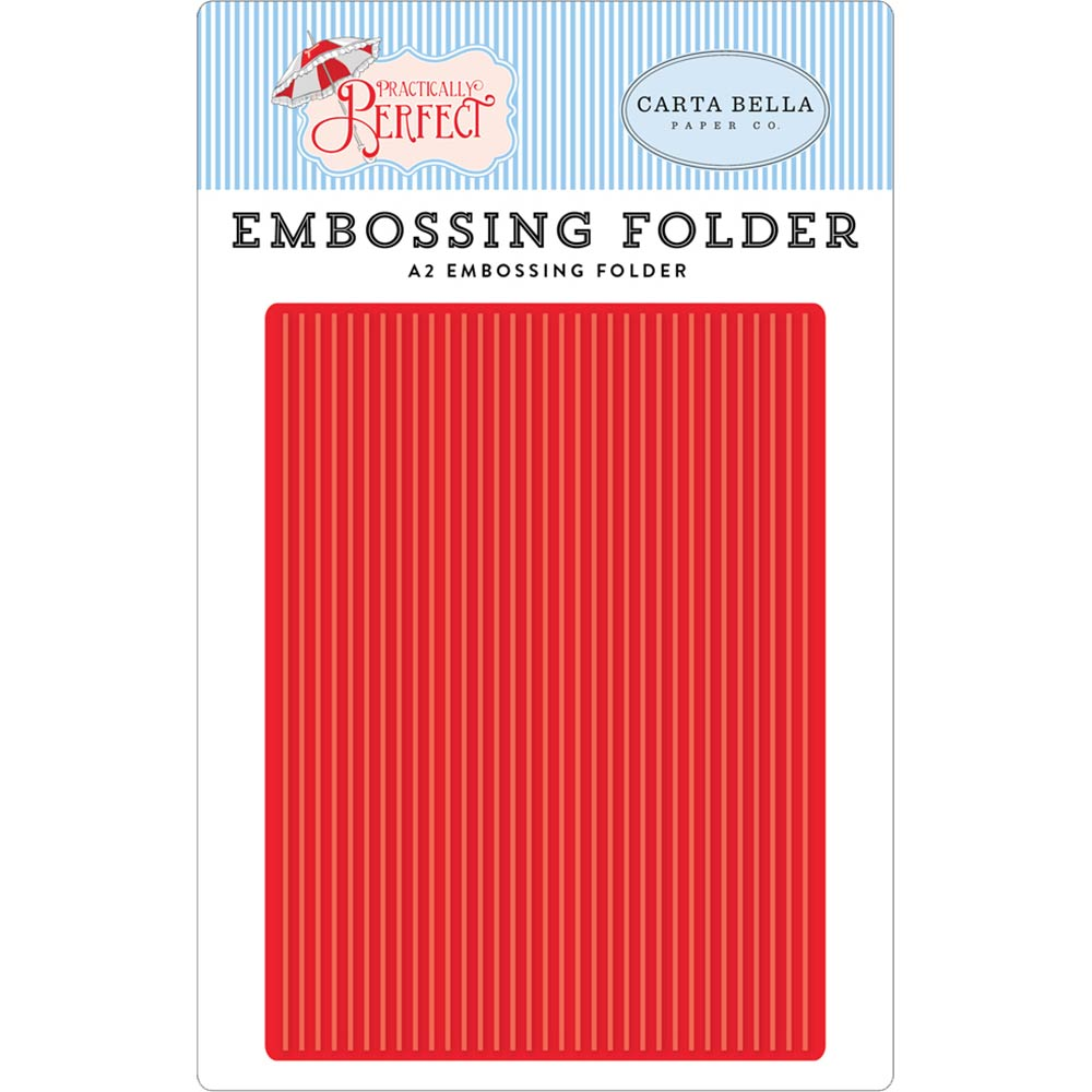 Practically Perfect Perfect Stripes A2 Embossing Folder