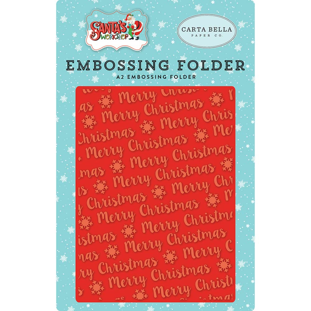 A2 Embossing Folder: Merry Christmas (Snowflake)