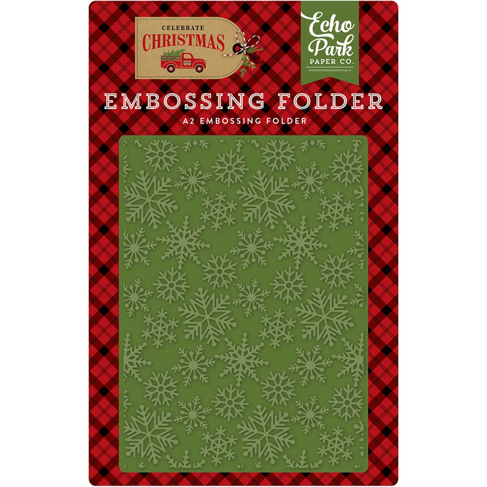 A2 Embossing Folder: Celebrate Christmas (Snow Flurry)