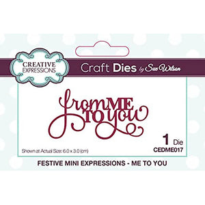 Sue Wilson Festive Mini Expressions Me to You Craft Dies
