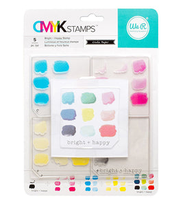 CMYK Stamps Set: Bright and Happy