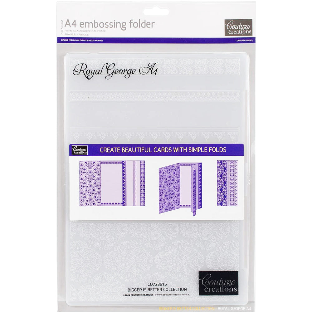A4 Embossing Folder: Royal George